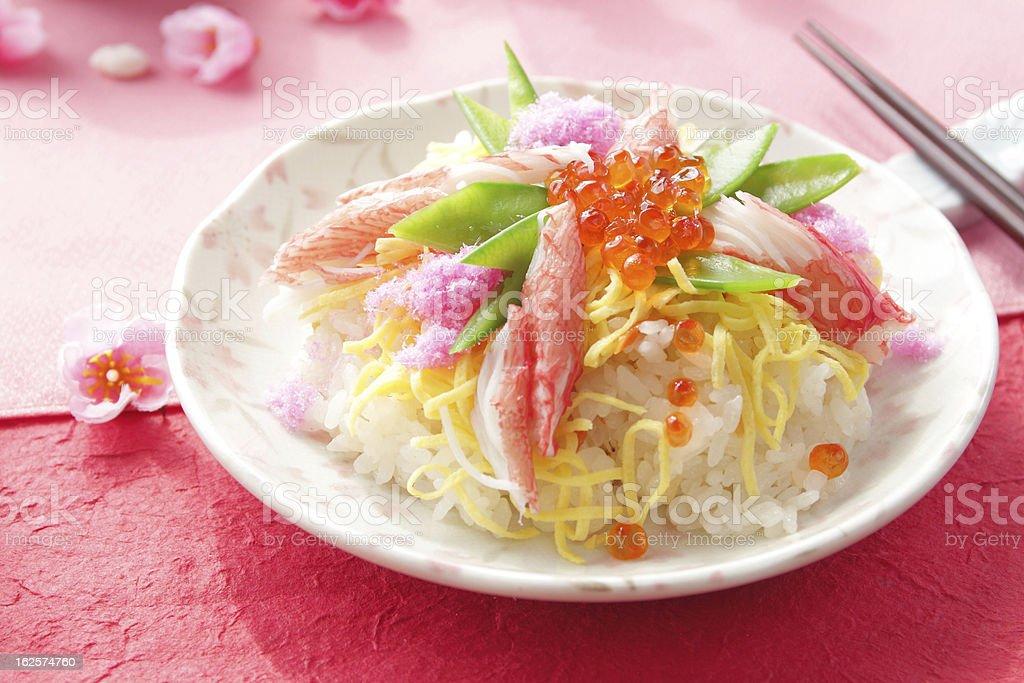 日本の料理、ちらし寿司 - ちらし寿司のロイヤリティフリーストックフォト