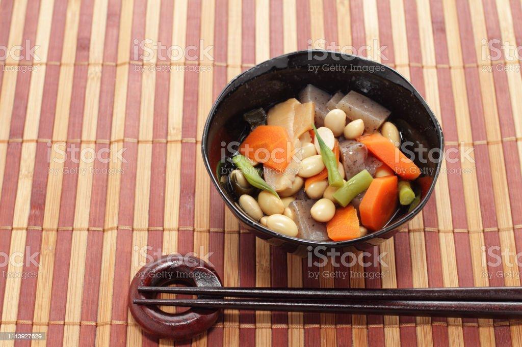 日本料理・調理豆・各種野菜 ストックフォト