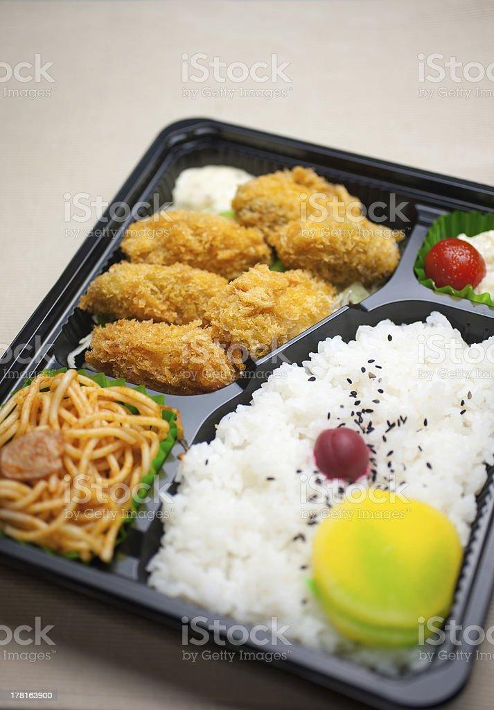 Japanese Cuisine Kaki Furai Bento Stock Photo More Pictures Of