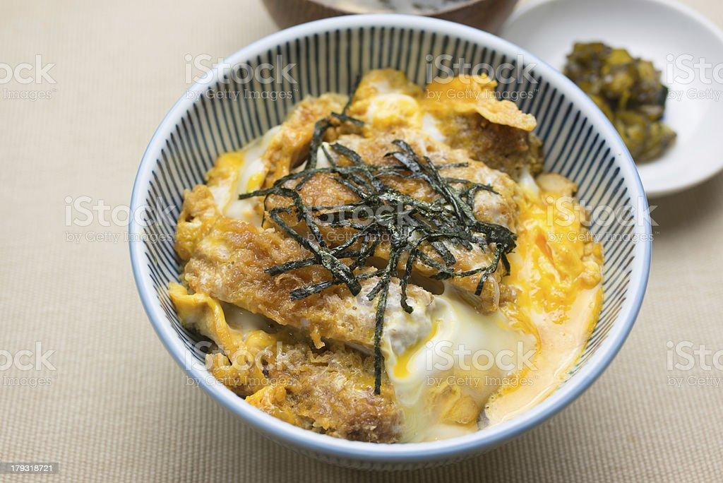 Japanese Cuisine Katsudon royalty-free stock photo