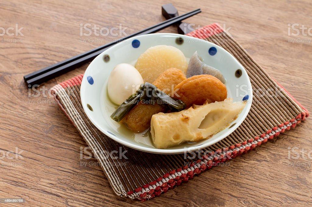 日本の料理、オデン ストックフォト