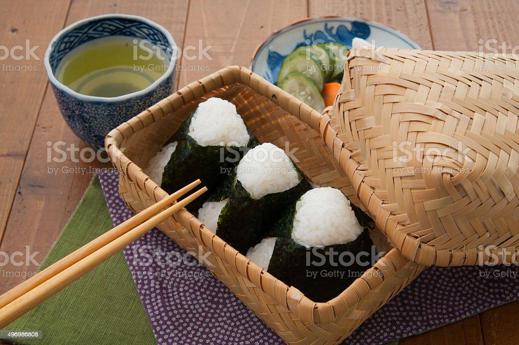 Japanese, cuisine, onigiri stock photo