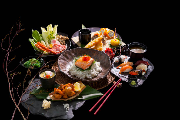 japanese cuisine - japanese food stock photos and pictures