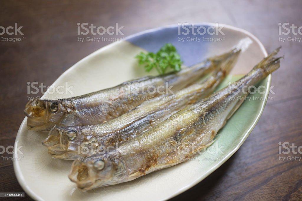 Japanese Cuisine Shishamo stock photo