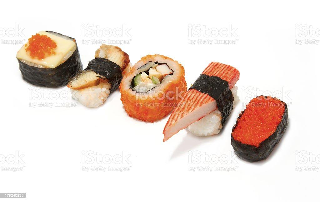 Japanese Cuisine, Sushi set royalty-free stock photo