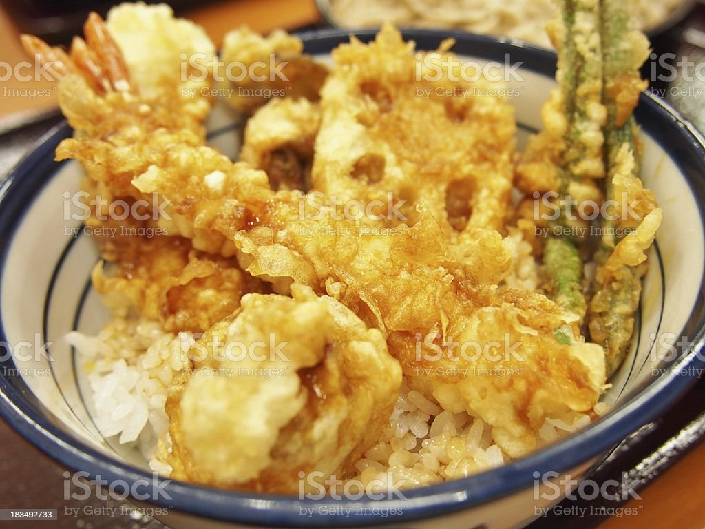 Japanese Cuisine Ten-Don stock photo