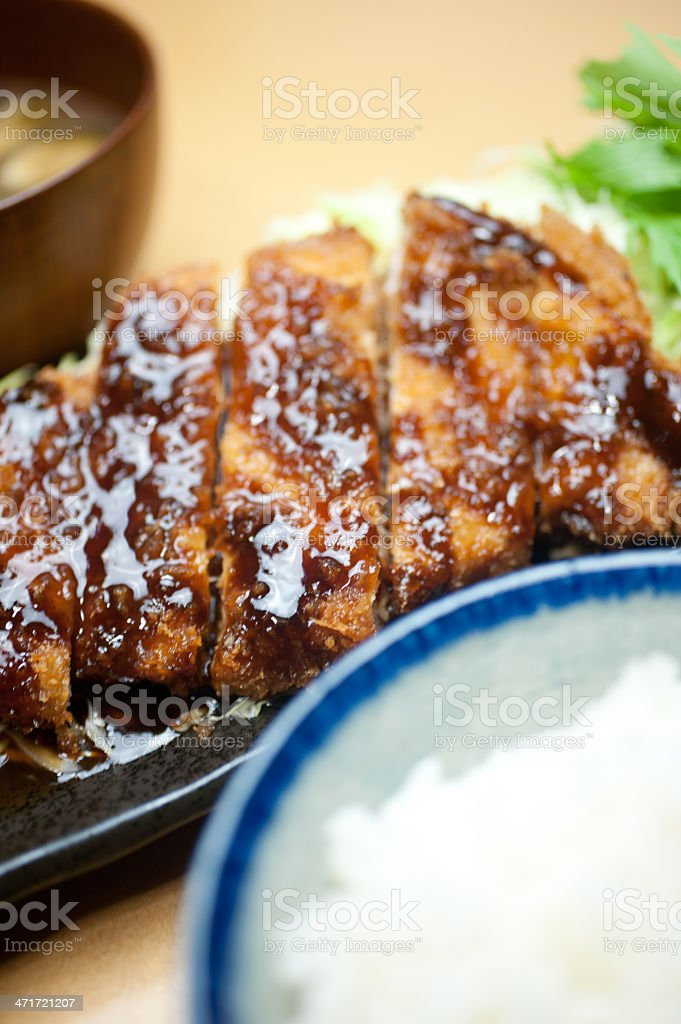 Japanese cuisine Tonkatsu royalty-free stock photo