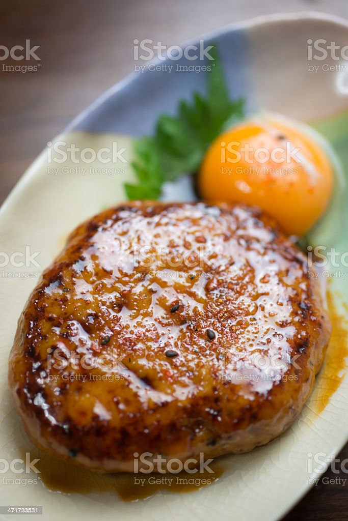 Japanese Cuisine Tsukune (chicken meatballs) royalty-free stock photo