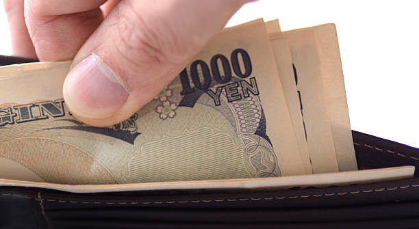 Japanese currency Japan Yen in wallet wallet money stock pictures, royalty-free photos & images