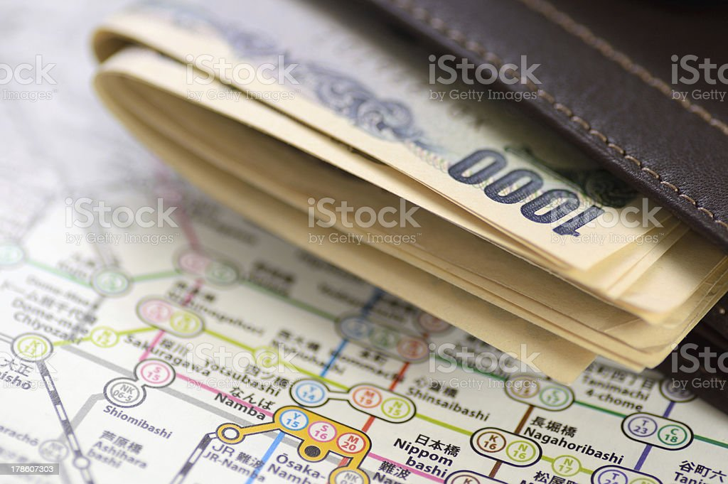 Japanese currency stock photo