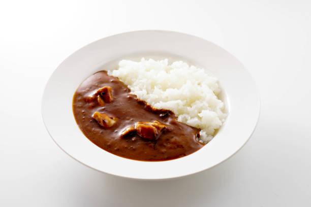 日本のカレーとライス。 - カレー ストックフォトと画像