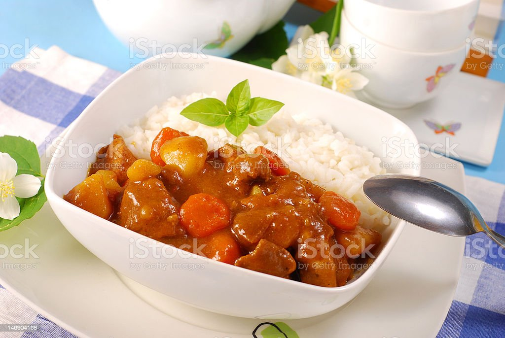 japanese curry rice royalty-free stock photo