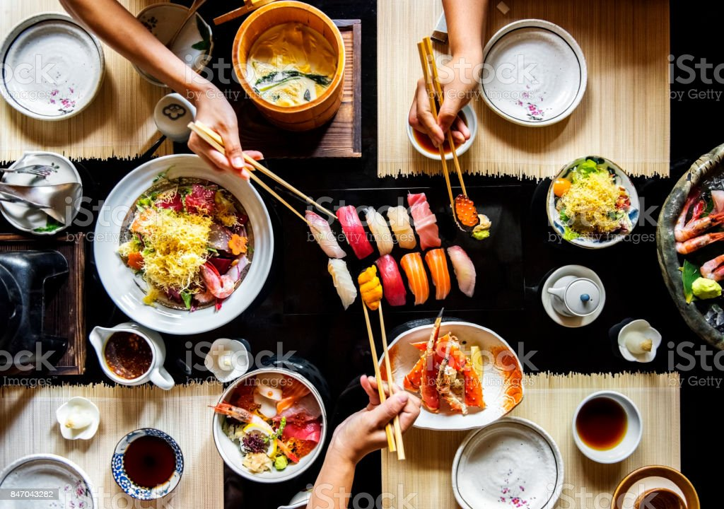 Japanese dining healthy food stock photo