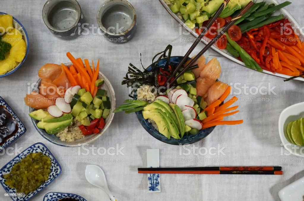Japanese dinner stock photo