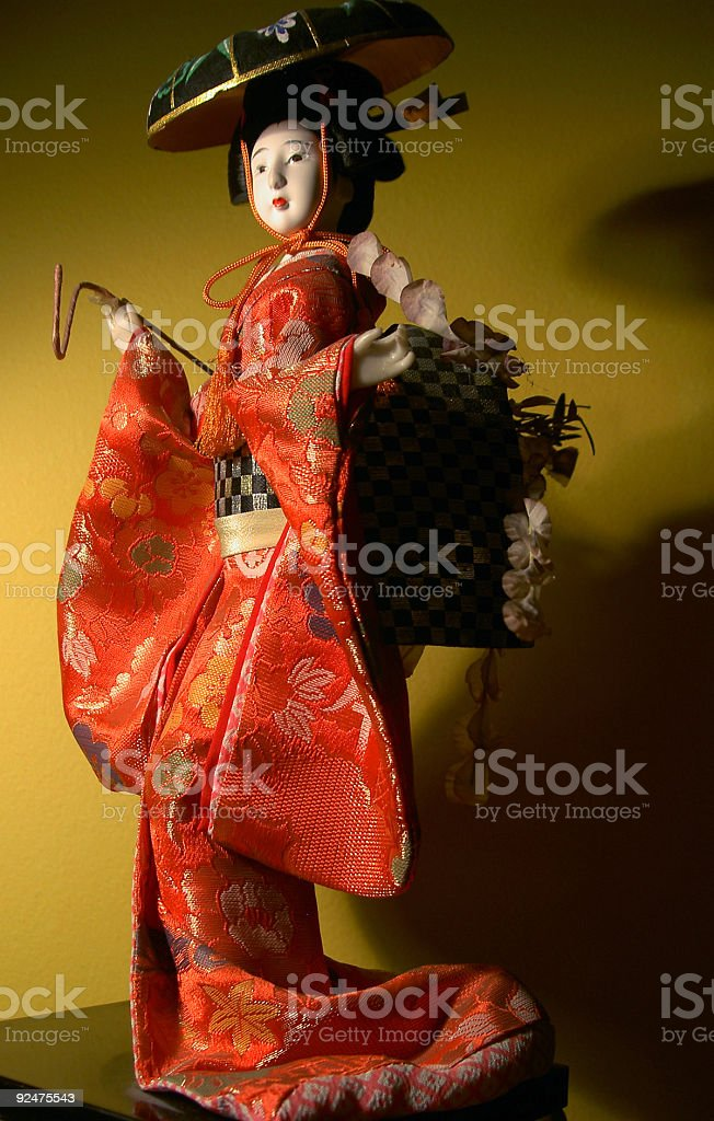 Japanese doll 1 royalty-free stock photo