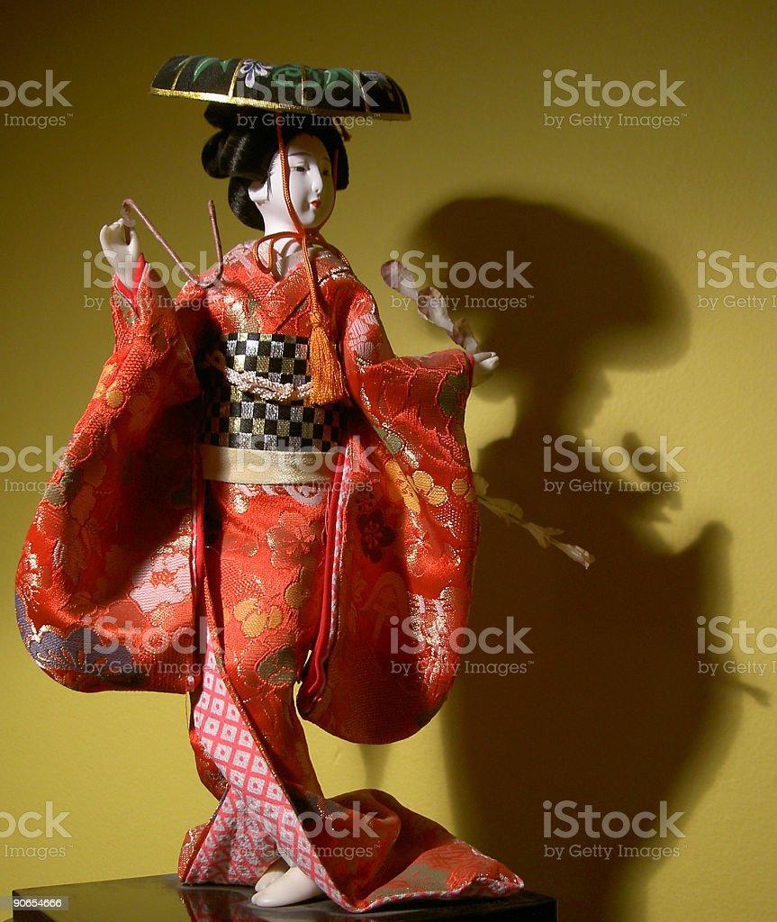Japanese doll 2 stock photo