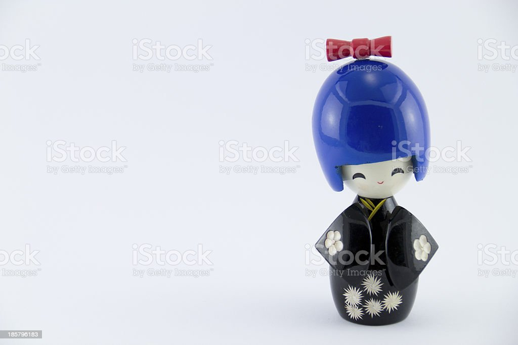 Japanese doll also known as Kokeshi doll. stock photo