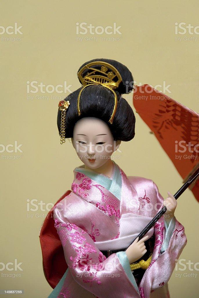 Japanese doll royalty-free stock photo
