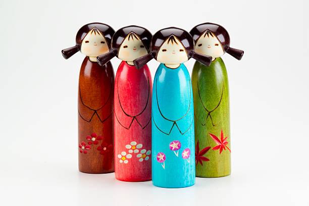 Japanese Dolls stock photo