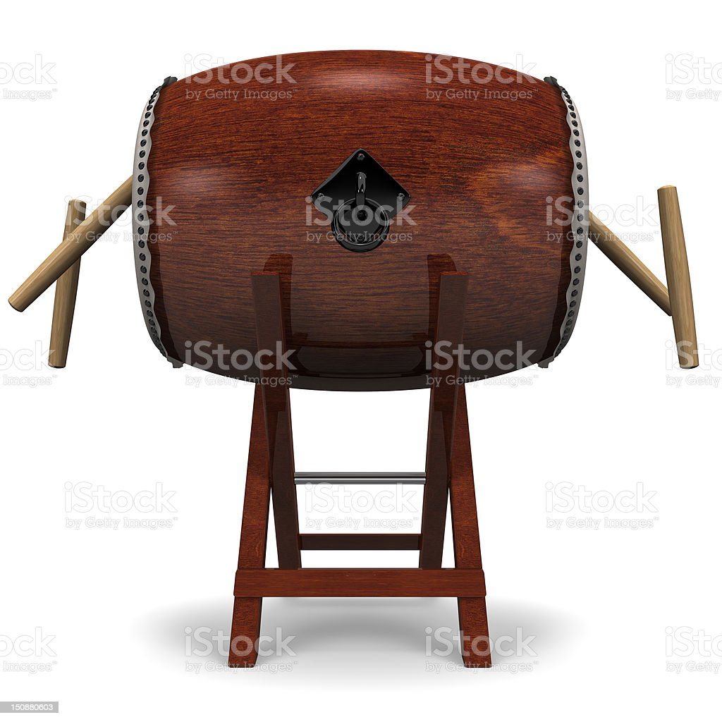 Japanese Drum And Sticks stock photo