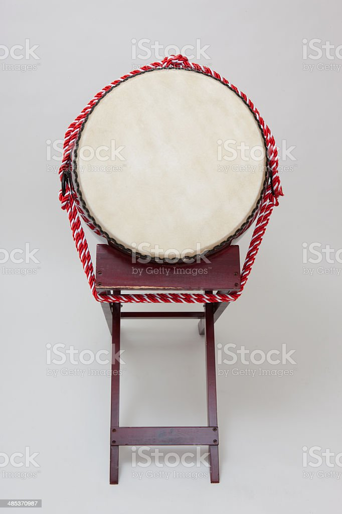 Japanese drum stock photo