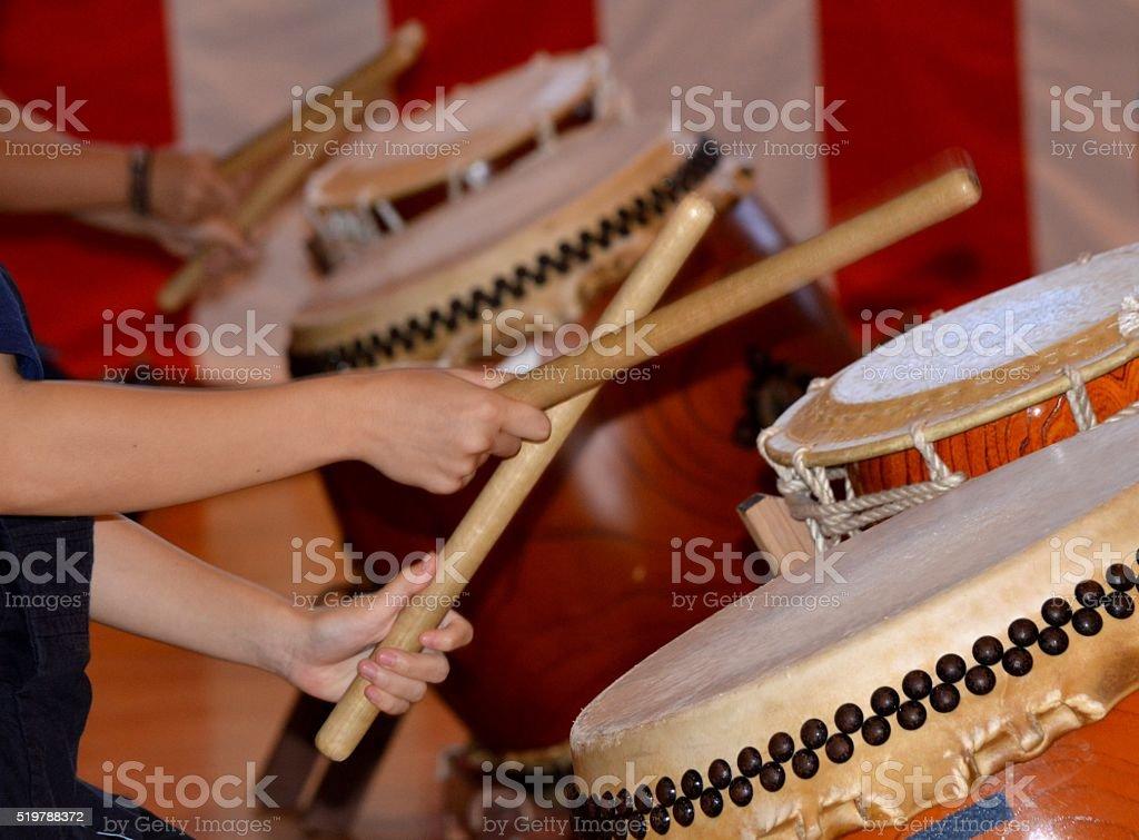 Japanese drum stock photo