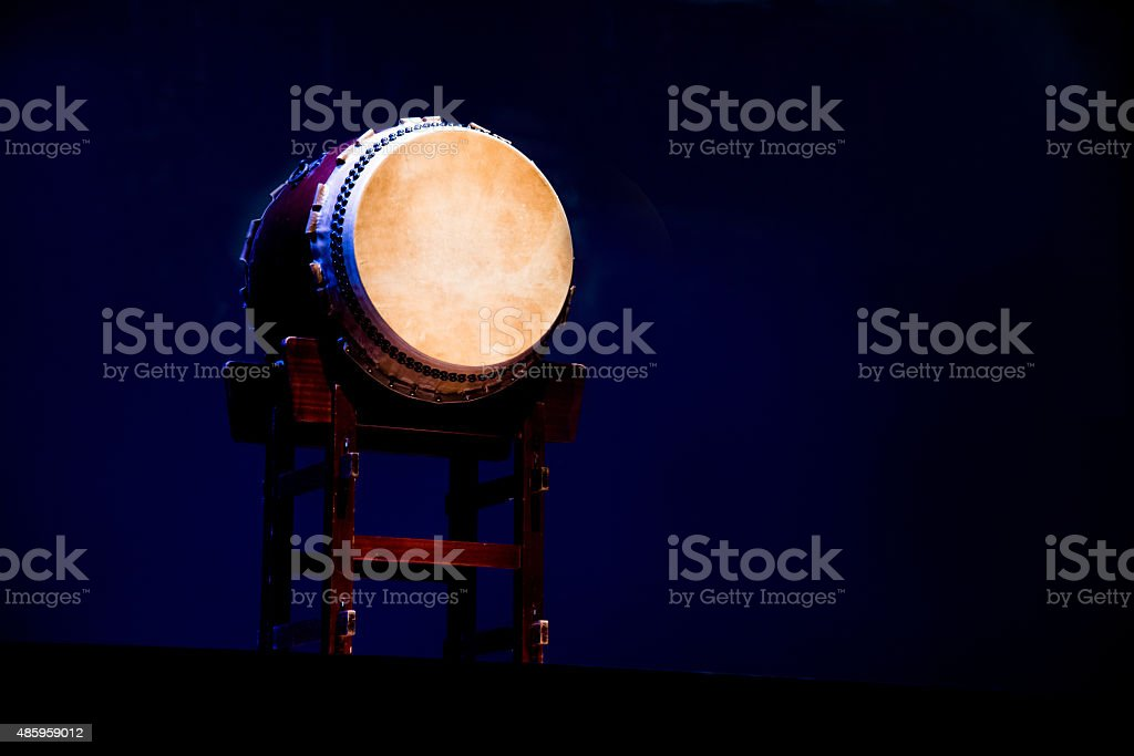 Japanese drums  Taiko stock photo