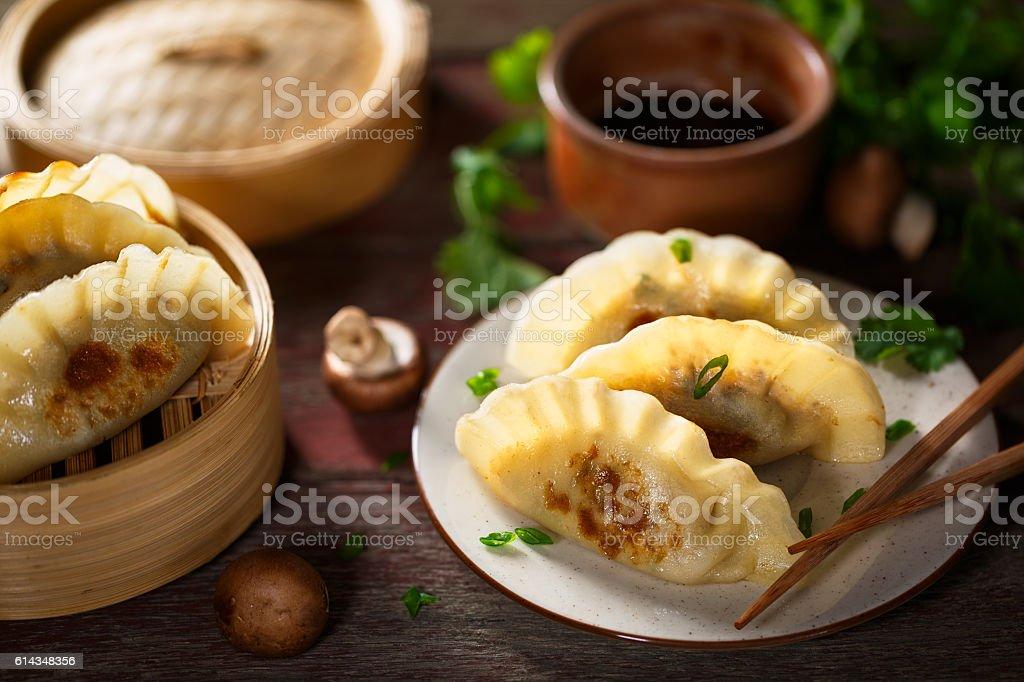 japanese dumplings Gyoza stock photo