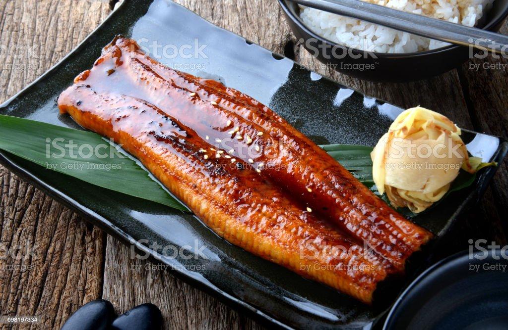 Japanischer Aal gegrillt oder Unagi Ibaraki. – Foto