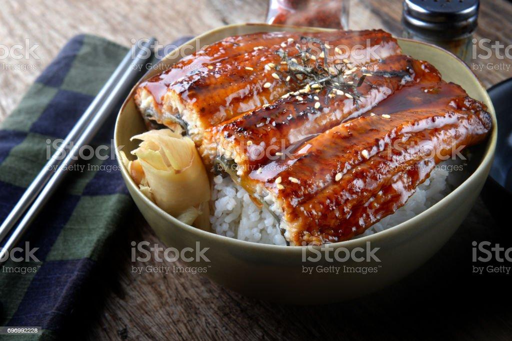 Japanischer Aal gegrillt mit Reis oder Unagi Don. – Foto