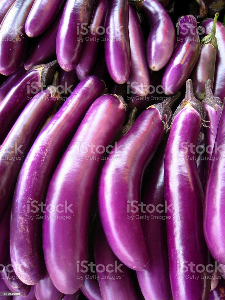 Japanese Eggplants royalty-free stock photo