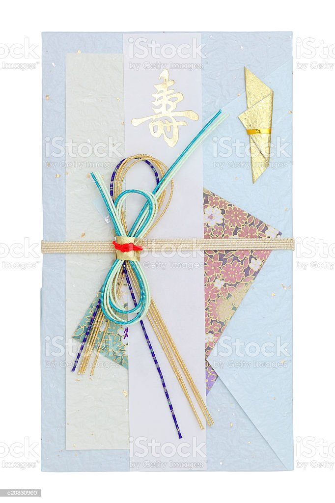 Japanese envelope for money gift stock photo