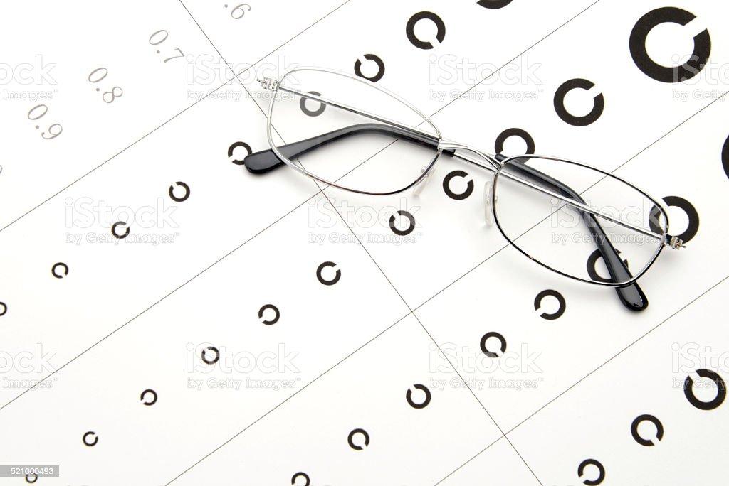 Japanese eyesight test images stock photo