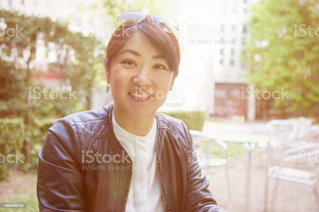 Japanese Families royalty-free stock photo