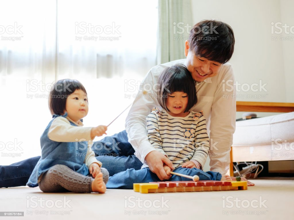 Japanese Family Life stock photo