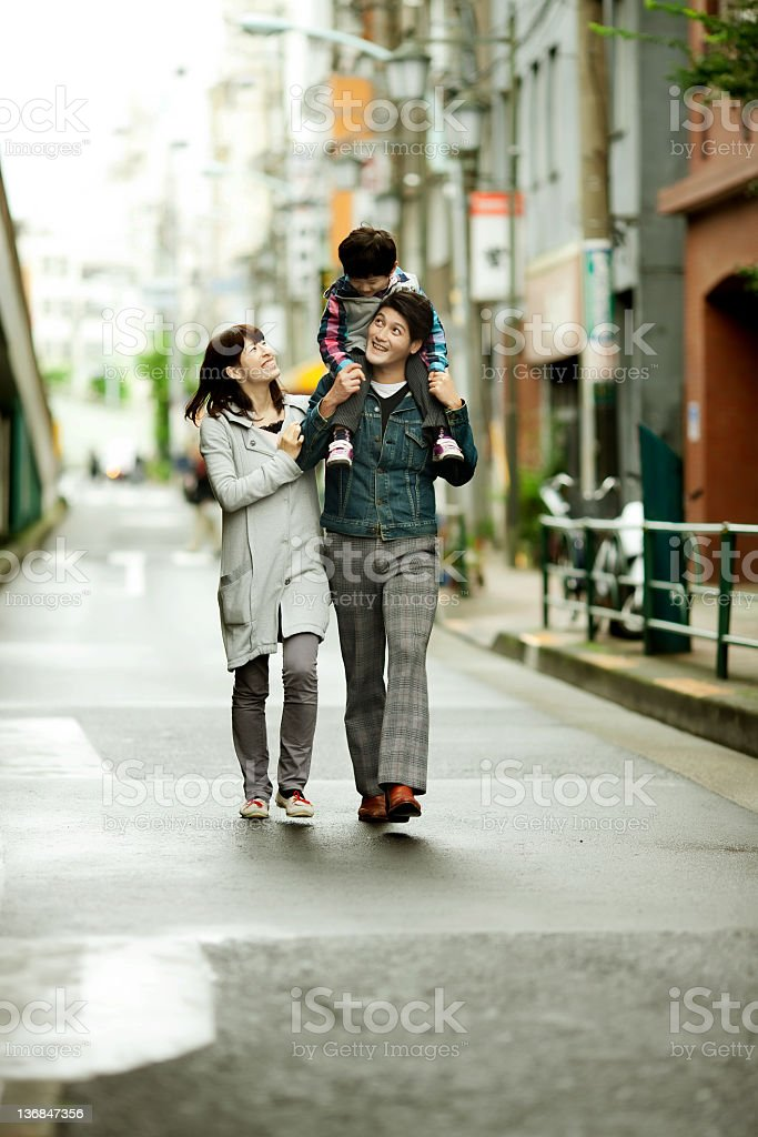 Japanese family outing royalty-free stock photo