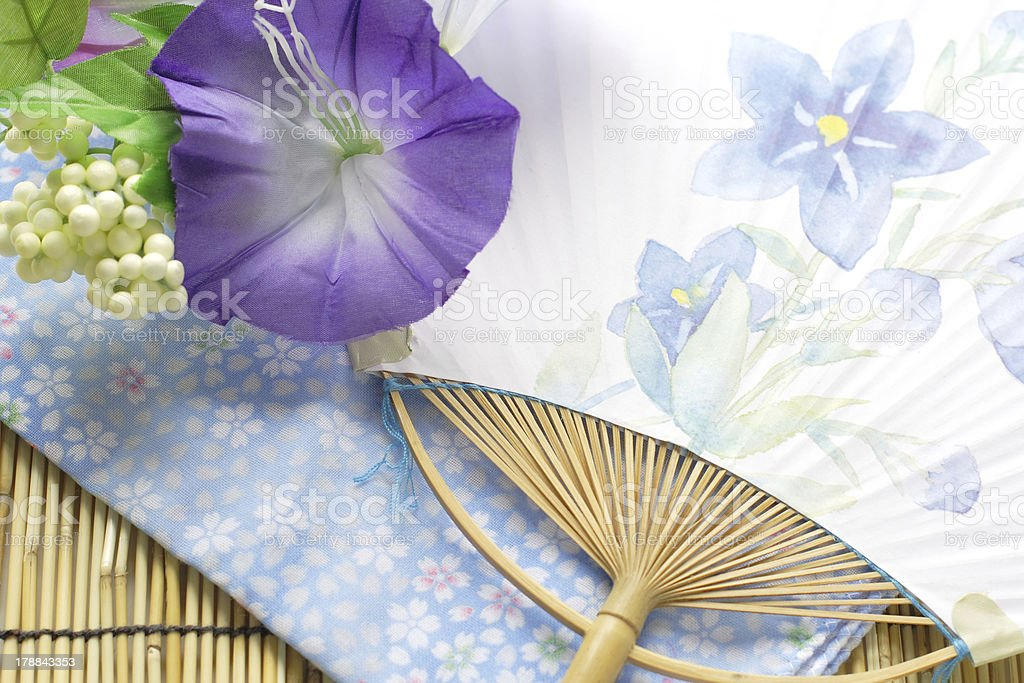 japanese fan showing the summer image royalty-free stock photo