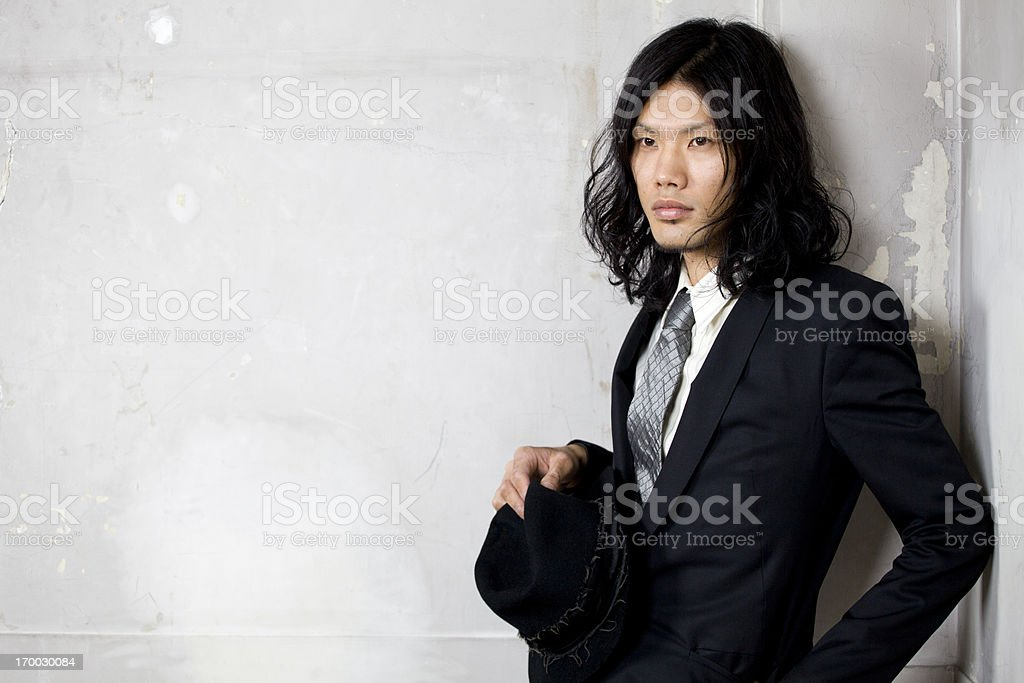 Japanese Fashionable Suited Man stock photo