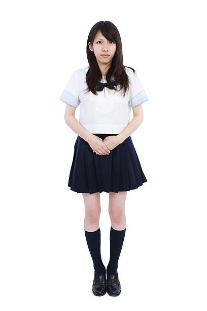 Japanese female high school student Japanese female high school student japanese school girl stock pictures, royalty-free photos & images