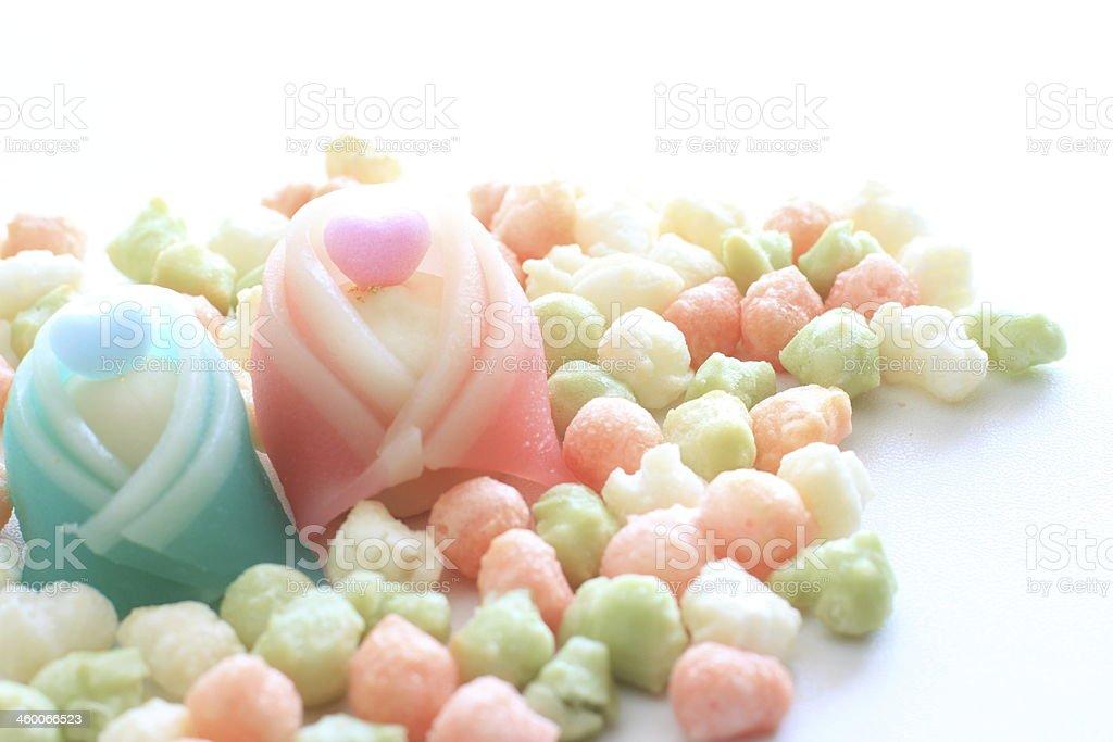 Japanese festival, Hinamatsuri confectionery stock photo