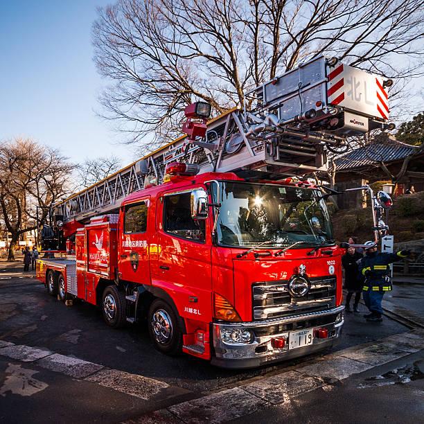 Japonés camión de bomberos - foto de stock