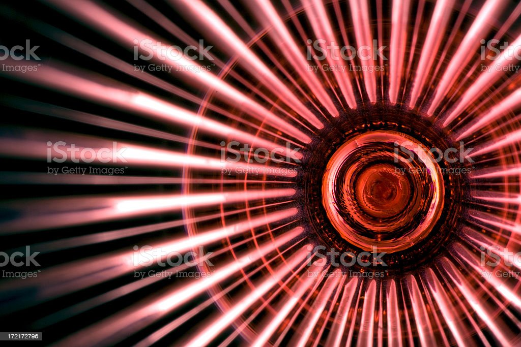 Japanese Flag-Abstract Interpretation-Close-up of Red Wine Glass royalty-free stock photo