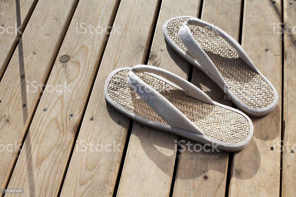 Japanese flip flop royalty-free stock photo