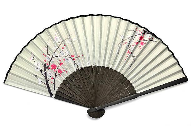 Japanese folding fan. stock photo