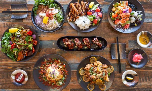 Japanese food background. stock photo