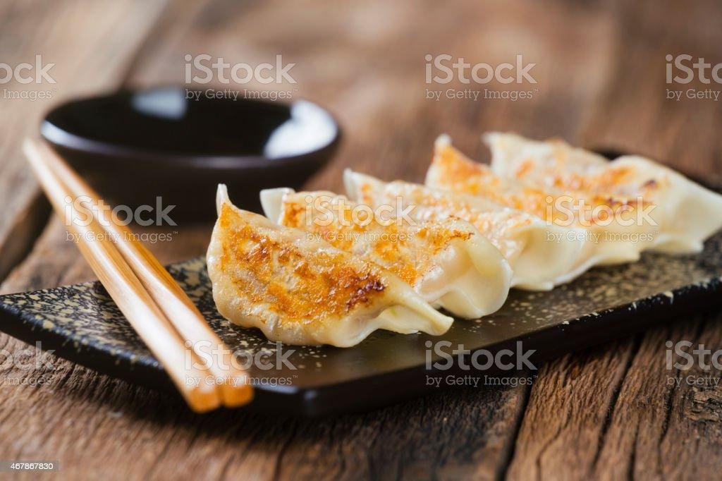 Comida japonesa Gyoza - foto de stock