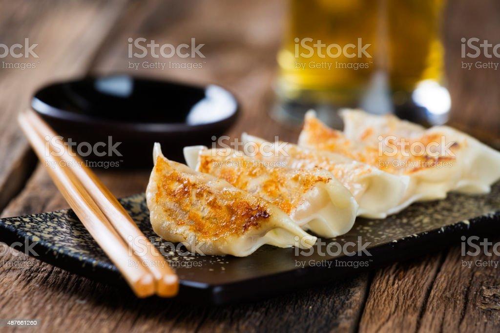 Japanese Food Gyoza stock photo