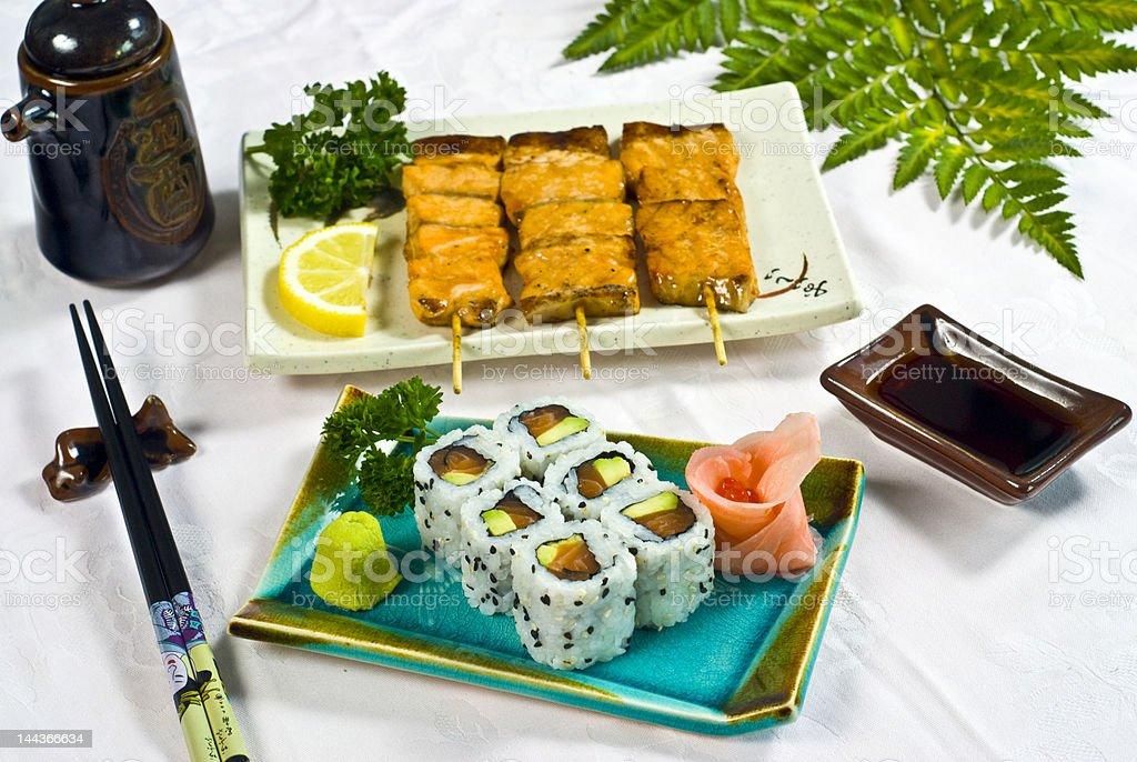 Japanese Food,  Menu California Maki royalty-free stock photo