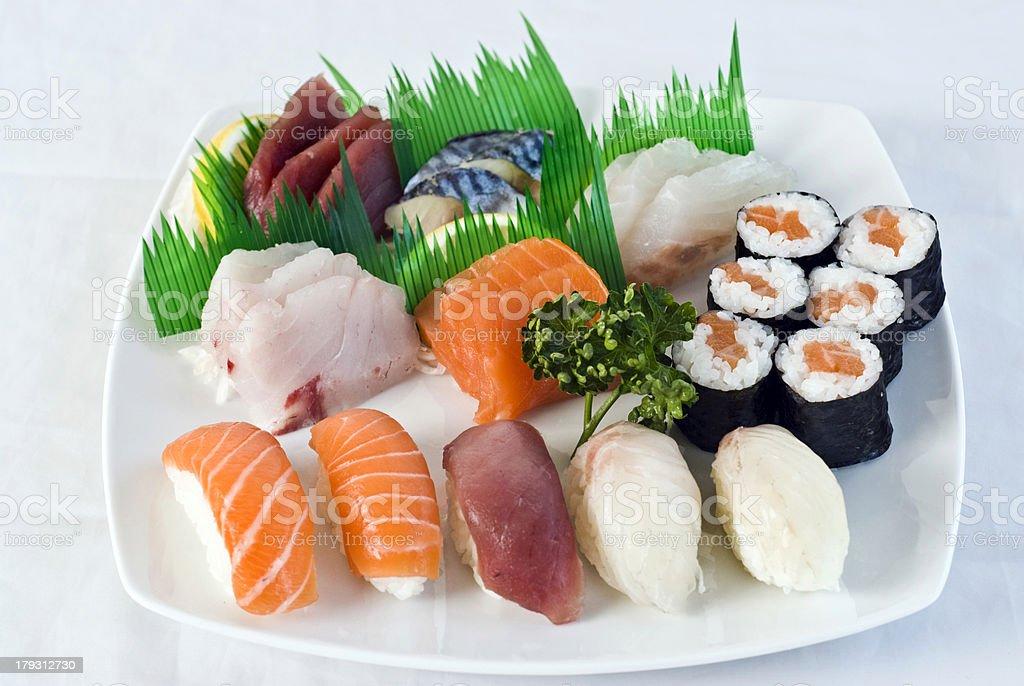 Japanese Food,  Mixed Menu royalty-free stock photo