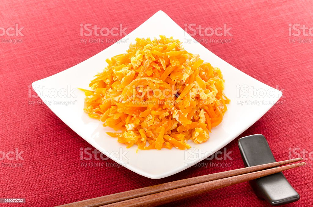 Japanese food 'NINJINSHRISHRI' stock photo